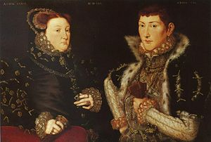 Mary Fiennes, Baroness Dacre - Mary Nevill and her son Gregory Fiennes by Hans Eworth, 1559
