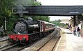 Matlock station with Peak Rail train hauled by Hunslet Austerity 0-6-0ST 68013, July 2012.jpg