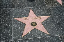 Stella di Matt Damon sulla Hollywood Walk of Fame