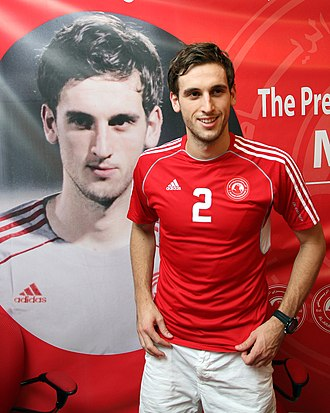 Matthew Spiranovic - Spiranovic during his signing ceremony with Qatar's Al Arabi Sports Club