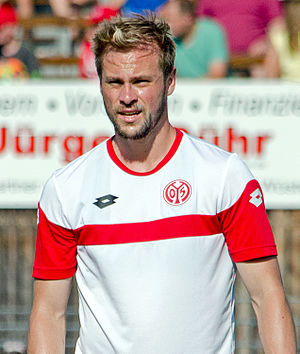 Maximilian Beister - Beister training with Mainz 05 in 2015.