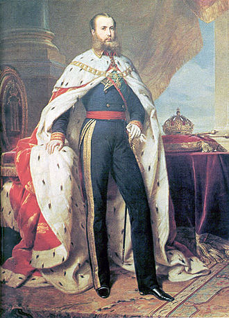 Mantle (royal garment) - Image: Maximilian of Mexico Winterhalter