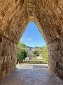 Mayan corbel arch, Zona Arqueológica de Uxmal, Yucatan, Mexico.jpg