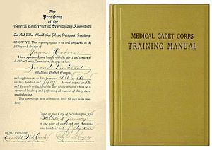 Medical Cadet Corps - Image: Mcc Cert Book