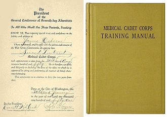 Medical Cadet Corps - Image: Mcc Cert Book