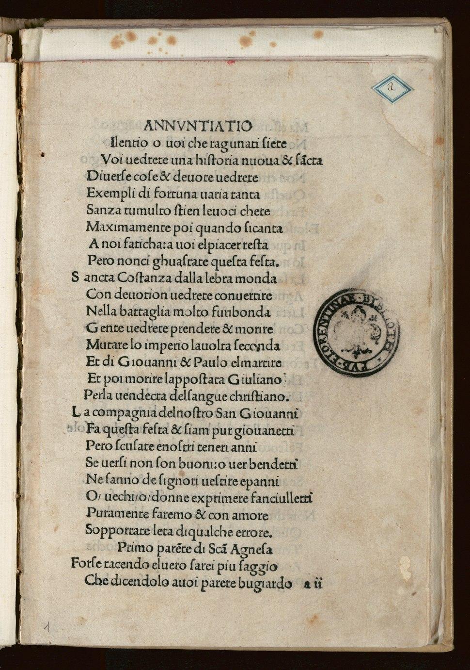 Medici - Rappresentazione dei santi Giovanni e Paolo, circa 1485 - 2411117 Scan00017