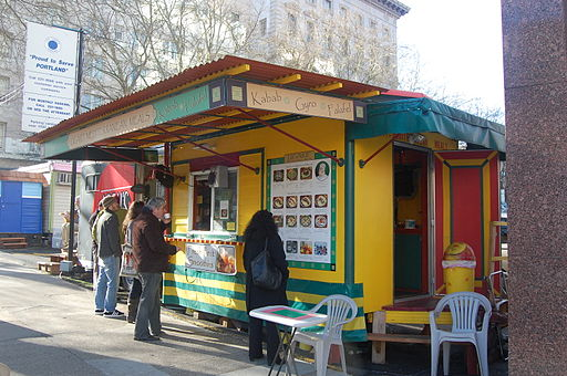 Mediterranean food cart in Portland