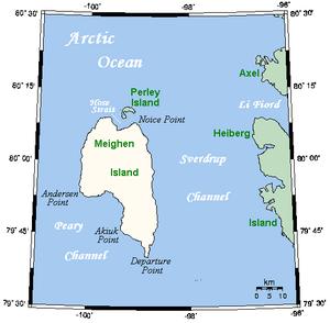Meighen Island - Closeup of Meighen Island