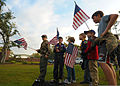 Members of Cub Scout Pack 221 await the arrival of U.S. special tactics Airmen during the Tim Davis Memorial March in Madisonville, La., Oct. 23, 2011 111023-F-PV498-085.jpg