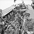 Men of 6th Battalion, the Green Howards in an assault landing craft during Exercise 'Fabius', 5 May 1944. H38229.jpg
