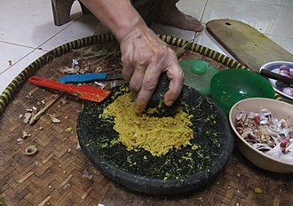 Bumbu (seasoning) - Multiple spices are traditionally stone ground to create a bumbu.