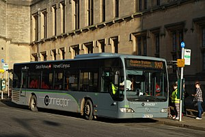 """Thames Travel - A Mercedes-Benz Citaro in Oxford in """"Connector"""" branded livery for routes X32 and X32A, but running on route X40"""