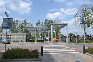 Leerdam railway station - The current entrance.