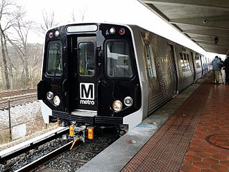Greenbelt, Maryland - Debut of a next generation WMATA 7000-series rail car at Greenbelt Metro Station