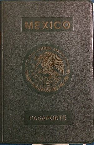 Mexican passport - Image: Mexican passport 1981