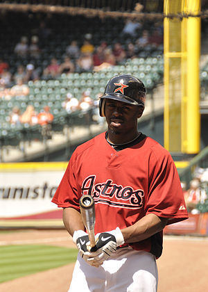 Michael Bourn - Bourn during his tenure with the Houston Astros in 2010