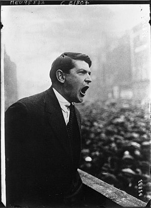 Michael Collins (Irish leader) - Michael Collins in 1922 addressing a crowd in Dublin