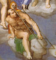 Michelangelo, giudizio universale, dettagli 23 san lorenzo.jpg