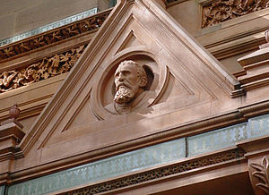 National Arts Club - The bust of Michelangelo, sculpted by artist Sergio Rossetti Morosini