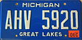 Michigan License Plate AHV 5920.JPG