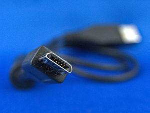 English: Micro B USB Plug