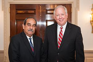Thomas A. Shannon Jr. -  Micronesia President Peter M. Christian and Thomas A. Shannon Jr.