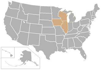 Midwest Conference - Image: Midwest USA states