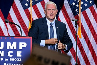2016 United States presidential election in Indiana - Indiana Governor Mike Pence ran as Donald Trump's running-mate