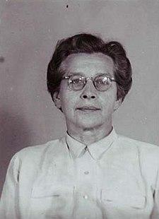 Vazební fotografie Milady Horákové (z roku 1949)