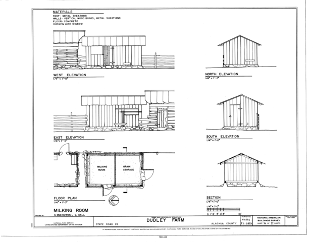 Elevation Plan Wiki : File milking room elevations floor plan and section