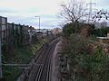 Mitcham tramstop interlaced track west.JPG