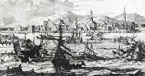 Coffee - View of Mocha, Yemen during the second half of the 17th century