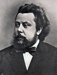 Modest Petrovich Mussorgsky, 1870.