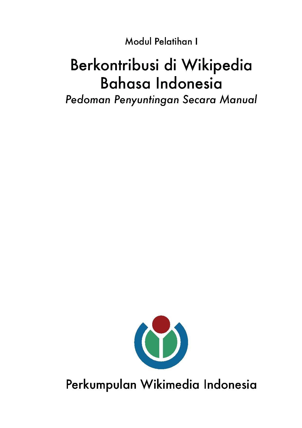 Wikipedia bahasa Indonesia ensiklopedia bebas