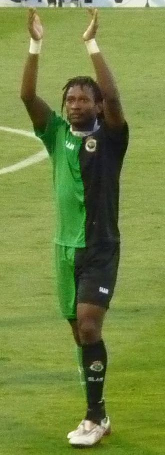 Mohamed Tchité - Tchité after a game with Racing in 2009