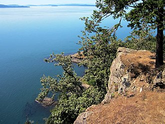 Boundary Pass - View of Boundary Pass from Monarch Head, Saturna Island