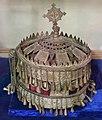 Monastero di ura kidanemihret, museo, corona donata dall'imperatore libnedingle, 1508-38 ca.jpg