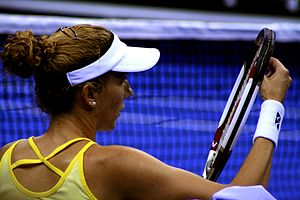Grunting in tennis - Monica Seles
