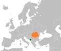 Montenegro Romania Locator.png