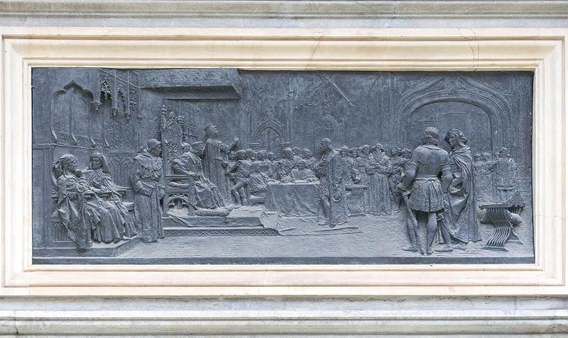 File:Monument Columbus relief Granada Spain.jpg