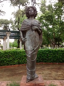 A statue of Cayetana in Seville