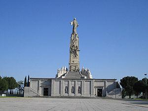 Monument in Cerro de los Ángeles (Spain)