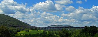 Port Jervis Line - A Port Jervis Line train crossing the Moodna Viaduct.
