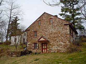Mordecai Lincoln House (Lorane, Pennsylvania) - View from the road (east)