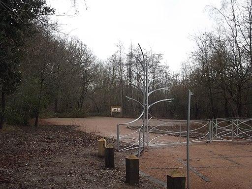Moseley Bog and Joy's Wood Local Nature Reserve - sculpture gates (8293646223)