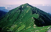Mount Sannosawa from Mount Hoken 1996-09-08.jpg