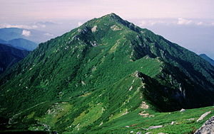 Mount Sannosawa from Mount Hoken 1996-09-08.jpg