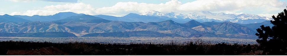 The Front Range of the Rocky Mountains near Denver, Colorado