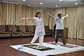 Mrs Manekar and Anil Shrikrishna Manekar - Trunk Movement - Loosening Practice - International Day of Yoga Celebration - NCSM - Kolkata 2015-06-21 7286.JPG