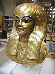 Gilded Mummy mask of Yuya, father of Queen Tiye.